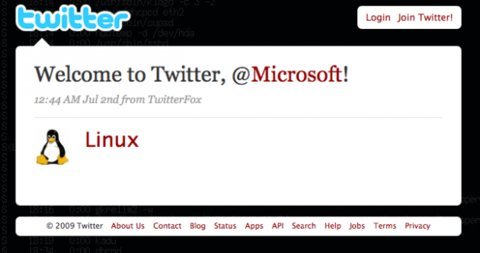 Welcome to Twitter,@Microsoft